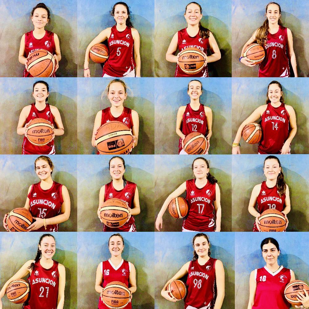 Jugadoras del equipo (en orden de la lista de abajo de izquierda a derecha)